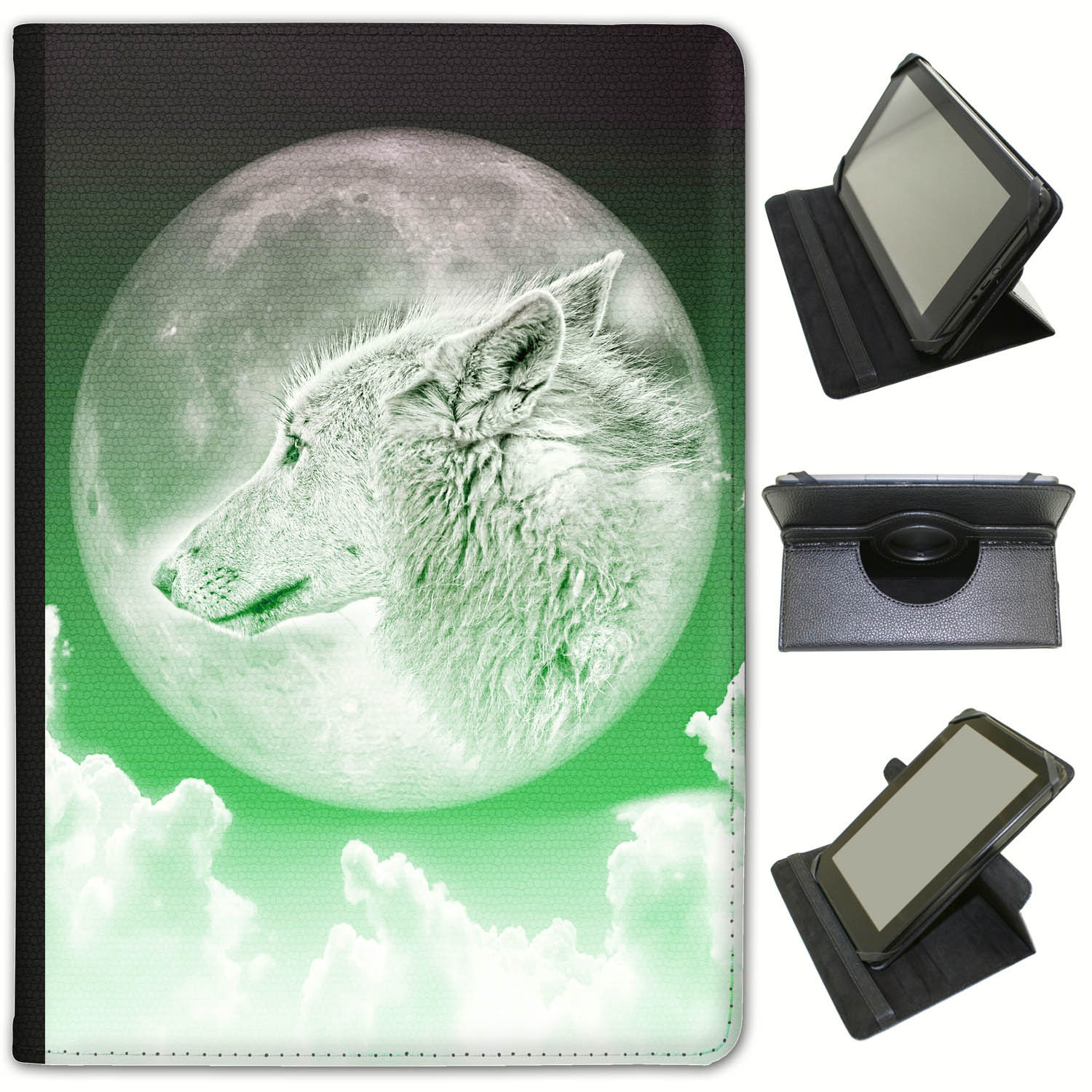 Moonlight-Wolf-Universal-Folio-Leather-Case-For-Archos-Tablets