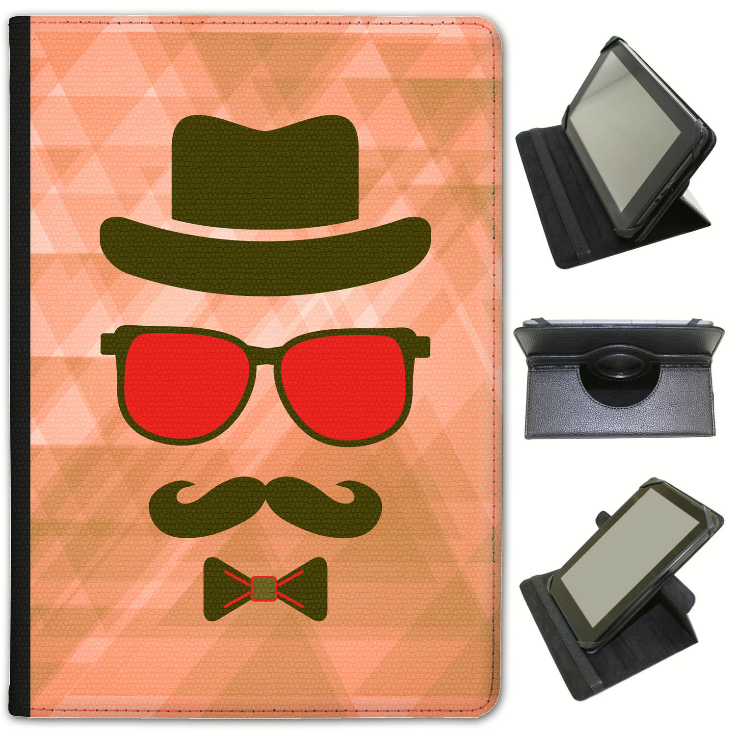 Hipster-Face-Hipster-Moustache-Guy-Universal-Leather-Case-For-Archos-Tablets