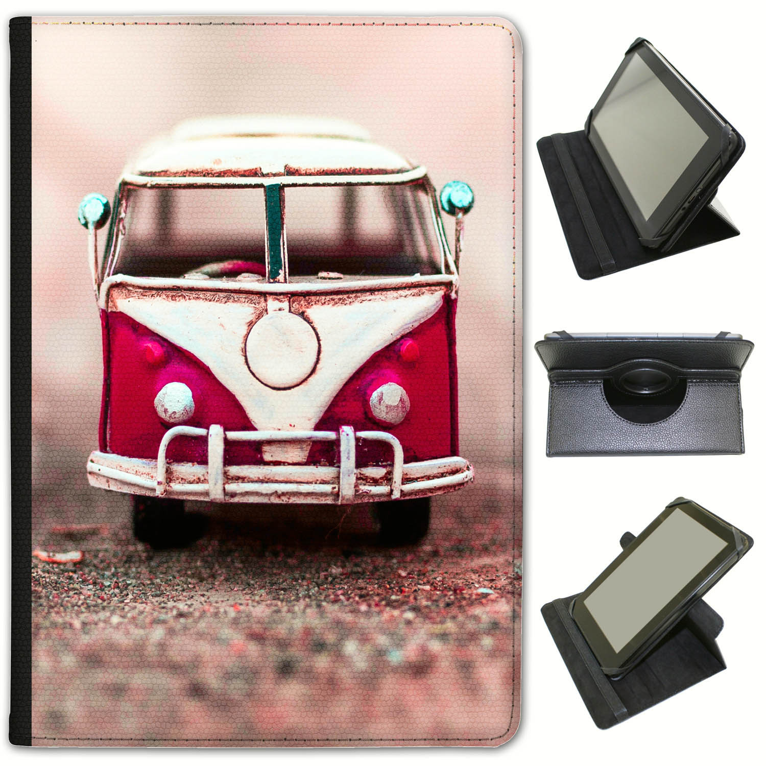 Old-Camper-Van-Universal-Folio-Leather-Case-For-Archos-Tablets